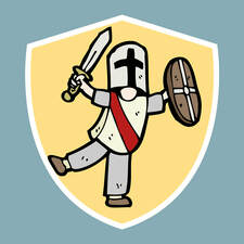 Graphic image of a knight